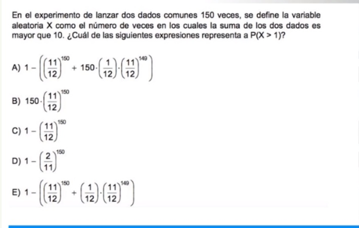 Tengo duda en la resolucion de este problema no entiendo por que 150 sobre 0 dio 1, y por que 150 sobre 1 dio 150, asumiendo que es combinatorio, si no es asi me gustaria aclarar esa duda. Acá esta el link https://www.ticlass.com/programas/6-intensivo-2018-ciencias-quimica/asignatura/2-matematica-psu/eje/31-azar-iii/unidad-aprendizaje/761-variable-aleatoria-ii/clase/5928-ejercicio-8/