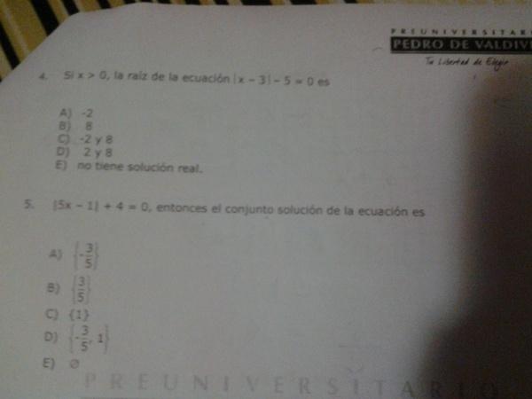 Hola tengo una duda con las ecuaciones von valor absoluto... no entiendo cuando tiene dos soluciones y cuando no tienen soluciones les dejo estos ejercicios qur no pude hacer.. de antemano graciass