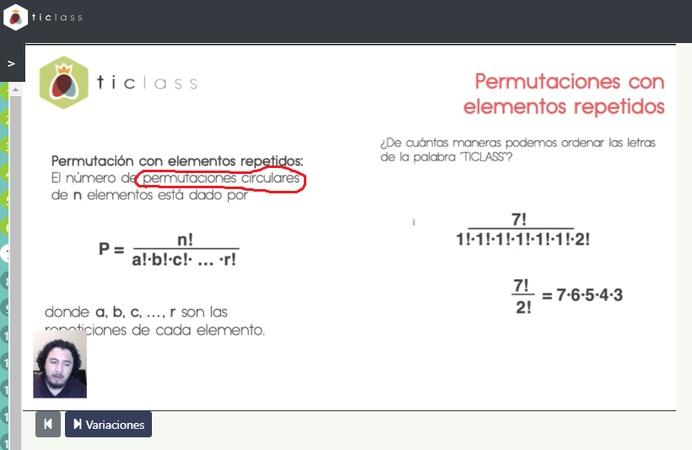 """Hay un error de tipeo en la diapositiva? donde dice permutacion """"circular"""" el circular esta demas cierto? lo pregunto porque me dejo en duda. de antemano mucha gracias!!"""