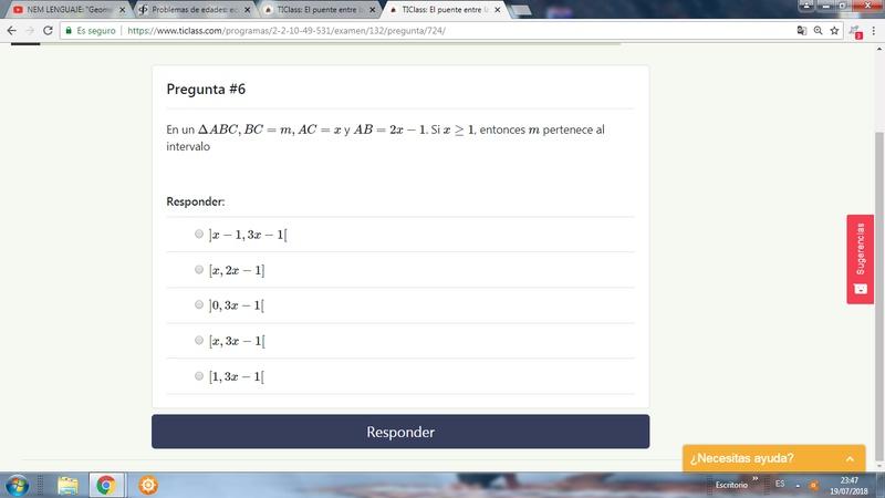 Profe me he encontrado dos veces con este ejercicios y aun no hallo como plantear esta inecuacion para a saber en que intervalo se encuentra m :(