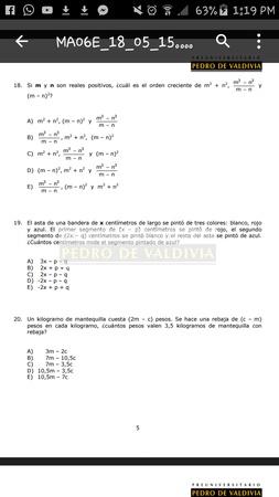 Hola! Les quería pedir una ayudará con la 18 :( no se como hacerla...  Me funciona  si remplazo m y n por valores? Ejemplo m=1 y n=2? O muy arriesgado.. Gracias