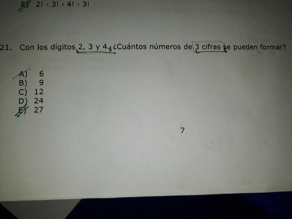 Hola! no entiendo porque la respuesta es 27, según yo es una permutación ya que toma todos los elementos y me da 6. alguna ayuda por favor??