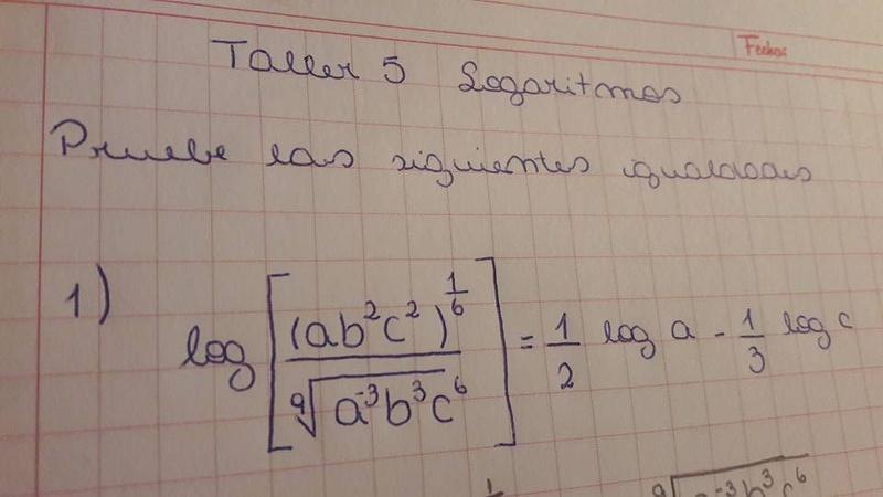 ¿Cómo resolver este ejercicio de logaritmos?