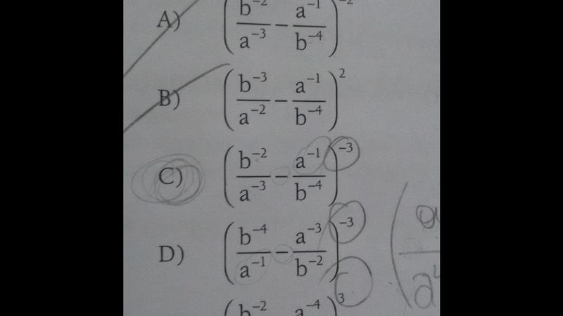 Como puedo simplificar esta fraccion algebraica? La respuesta correcta es la C