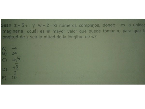 me pueden ayudar con este problema de numeros complejos pls