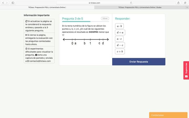 En la siguiente pregunta, si asigno a A:1/4 , B:1/2 , C:3/2 y D: 2 , las alternativas 3 y 4 también me dan un numero menor a 1.  alternativa 3: 1/4*3/2= 0,3 alternativa 4: 2-1,5=0,5