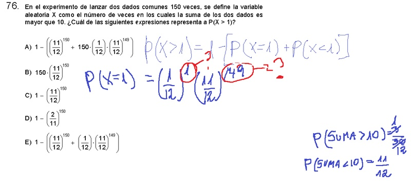 En el modelo, el profe lo pone elevado a 1 y el otro a 149. No entiendo porque lo eleva y no lo multiplica y porque tampoco elevaría a 149 el 1/12. En fin, necesito una explicación